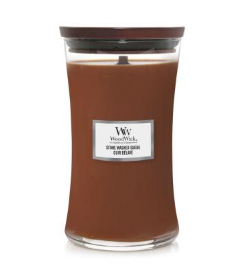 WoodWick Stone Washed Suede...