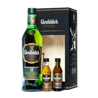Glenfiddich 12 YO + 2...